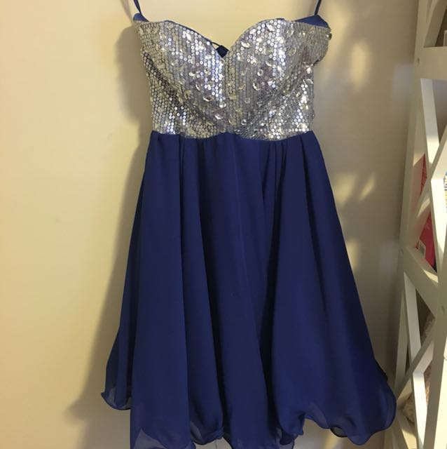 Blue Sherri Hill Look Alike Formal Dress