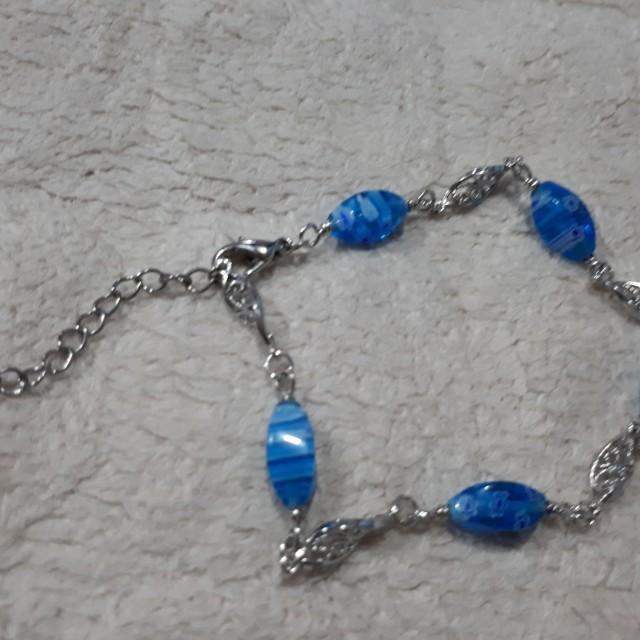 Blue Stone Anklet Bracelet
