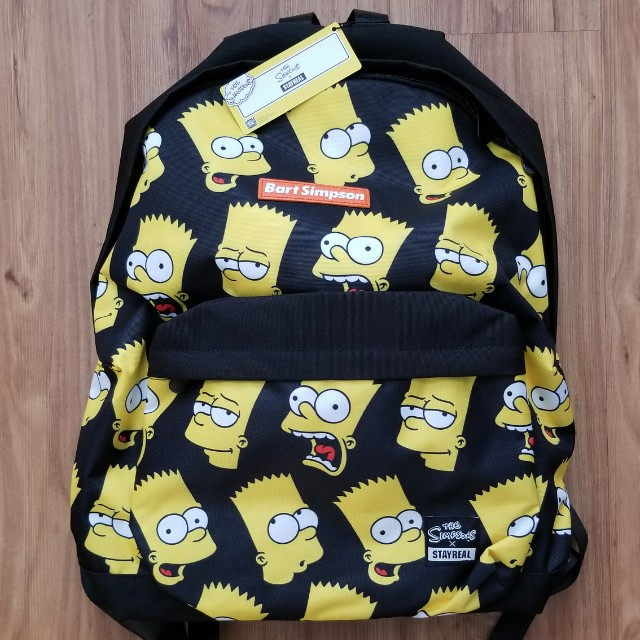 BNWT Stay Real X Bart Simpson backpack bag 42ced863a6197