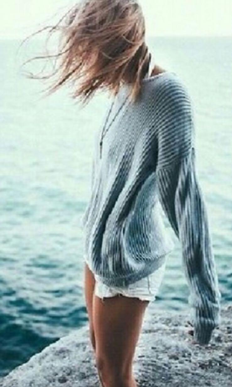 Brandy Melville baby blue Ollie sweater 9d2470d4c