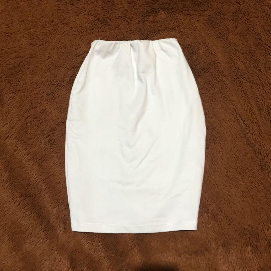 Broken White Bodycon Skirt