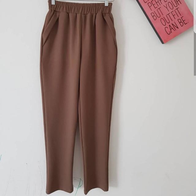 Brown Office Pants