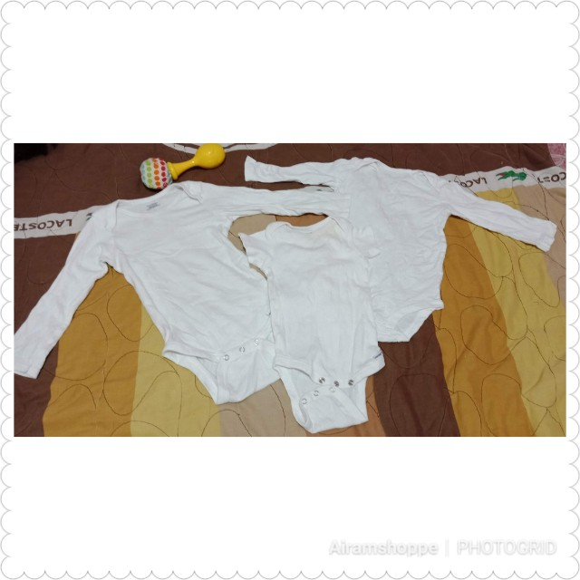 Bundle C Gerber White Onesies