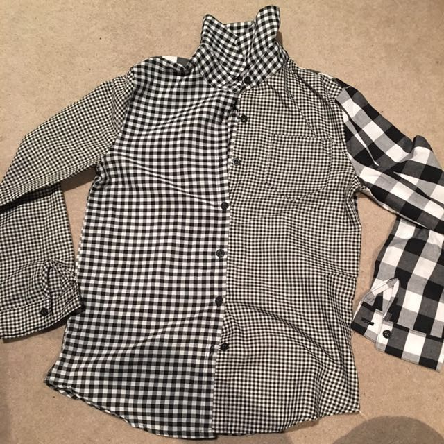 B&W checkered shirt