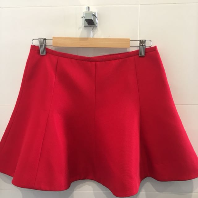 Camilla and Marc red skirt
