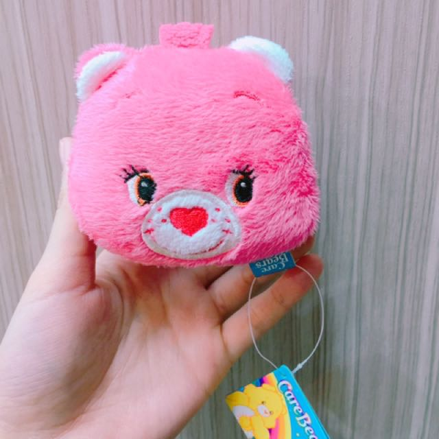 CareBears彩虹愛心熊 絨毛零錢包(磁扣)