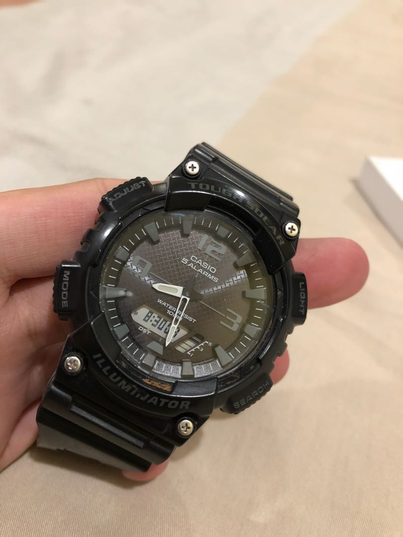 Casio Tough Solar Module 5208 Mens Fashion Watches On Carousell Fossil Fs5170