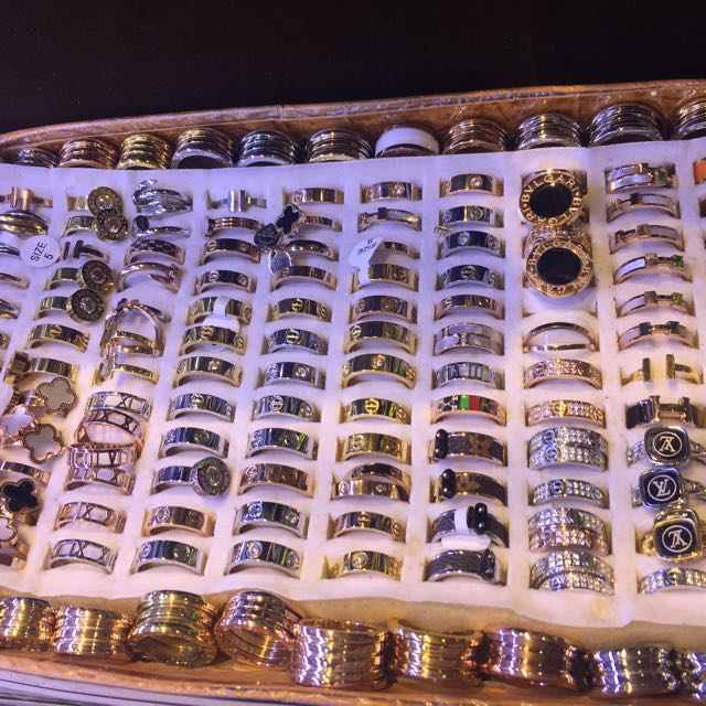 Chanel Hermes LV Cartier Gucci rings jewellery