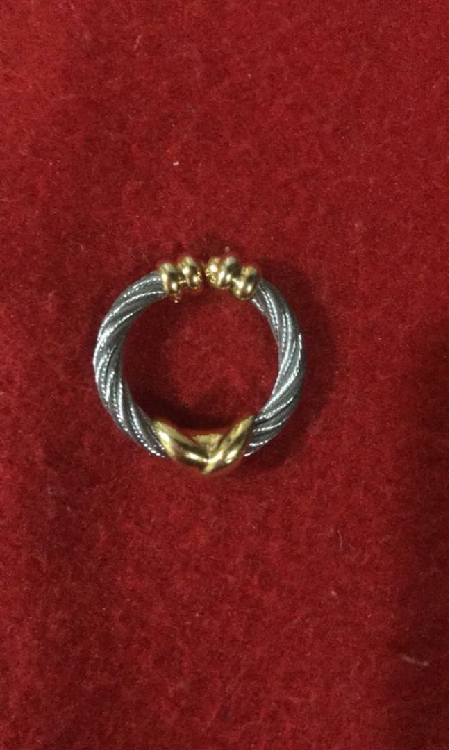 Charriol criss cross ring size small