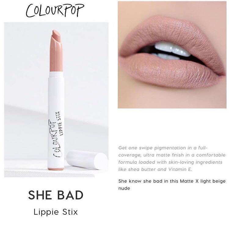 ColourPop SHE BAD Matte Lippie Stix.