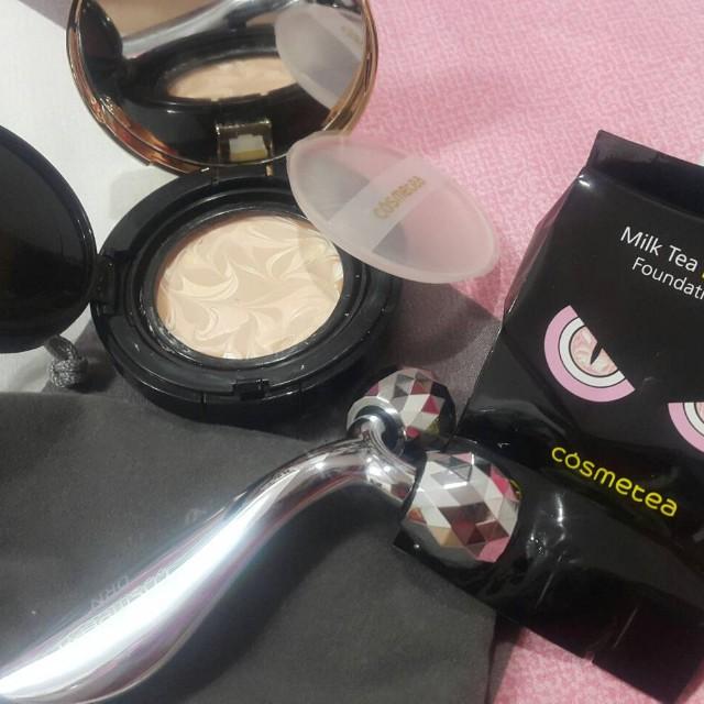 韓國Cosmetea小怪獸水光玻尿酸EE霜氣墊粉餅