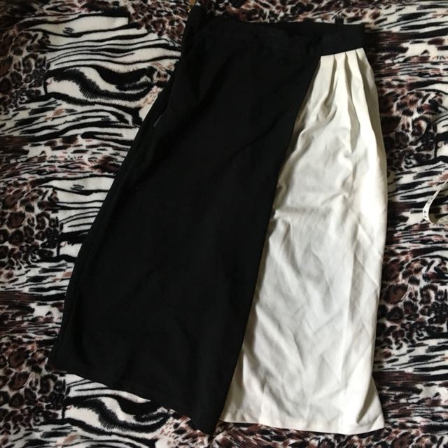 Creme/black Culottes