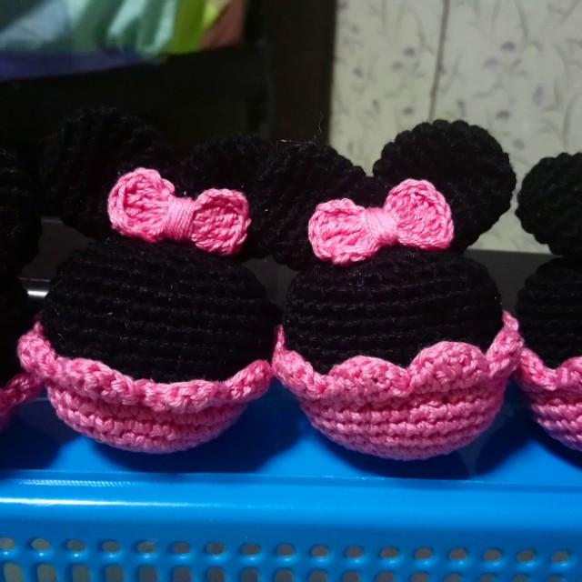 Crochet mickey or Mini mouse souvenir