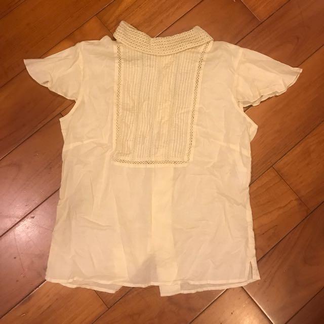 Cureteria日本品牌鉤針背扣純棉襯衫