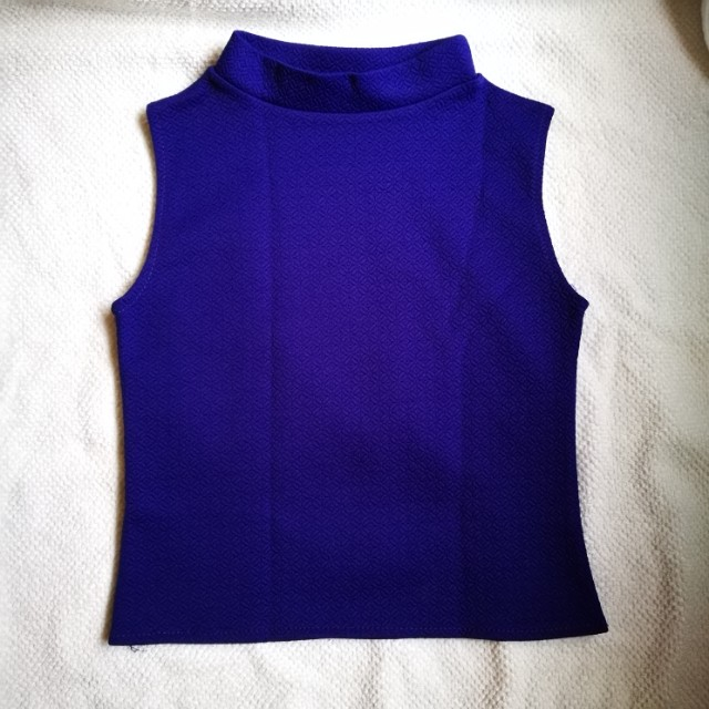 Blue Violet Sleeveless Top