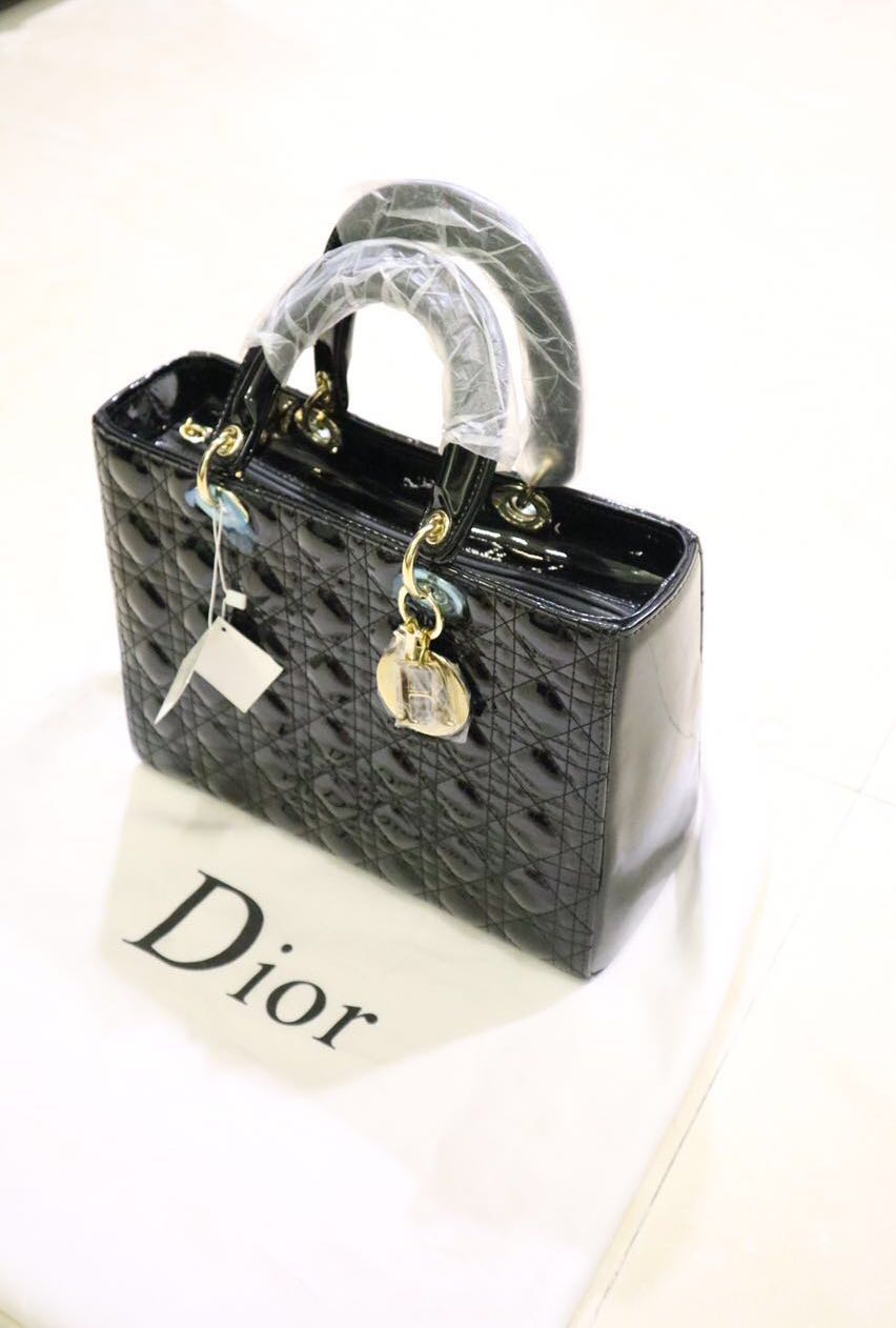DIOR MEDIUM BAG BLACK (mirror)