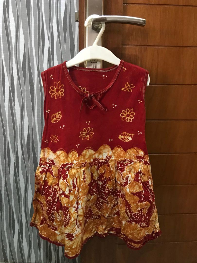 Dress Batik Anak Bayi Baju Perempuan Di Carousell Setelan Celana Joger Beranda Photo