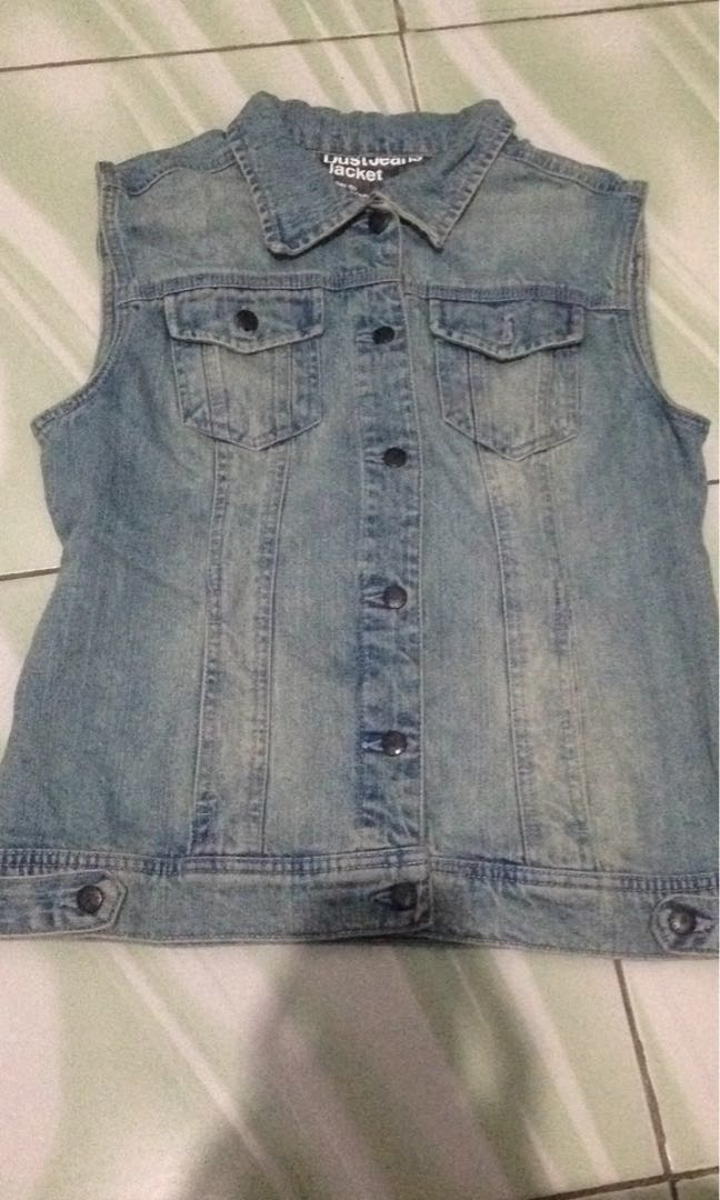 Dust denim vest