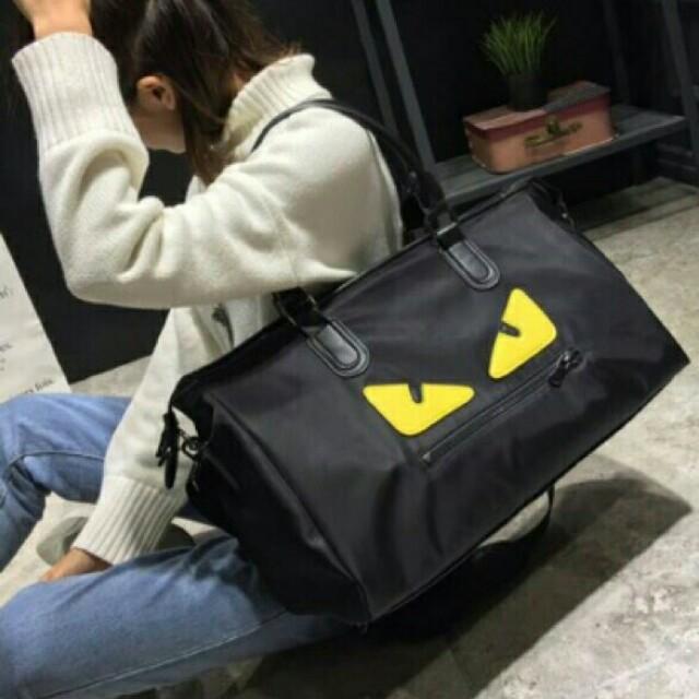 6af963ecf48c Fendi Monster Eye Travel Bag Black