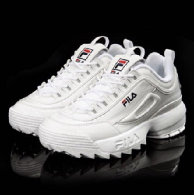 FlLA鋸齒新款白球鞋