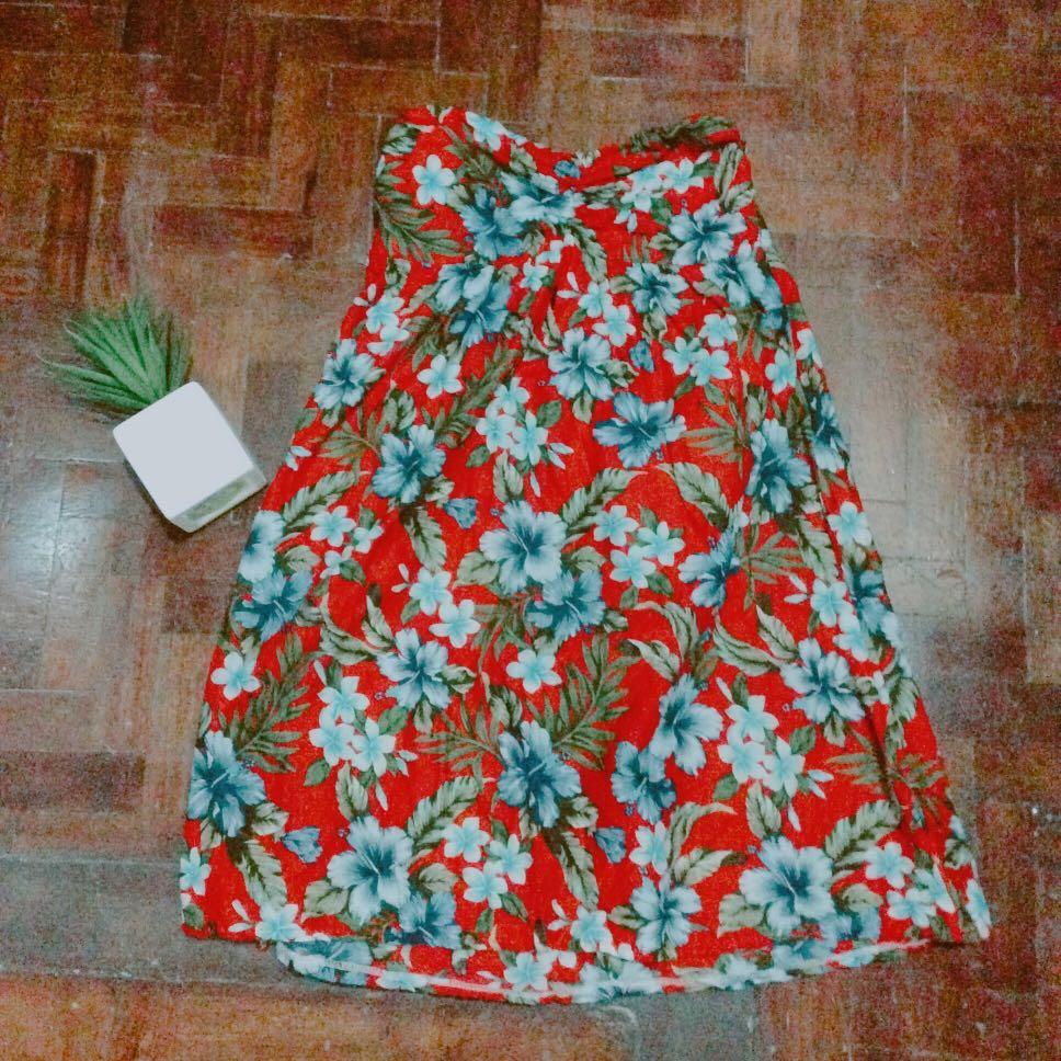 Floral tube dress/maxi skirt