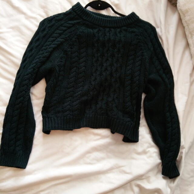 Forest Cropped Knit