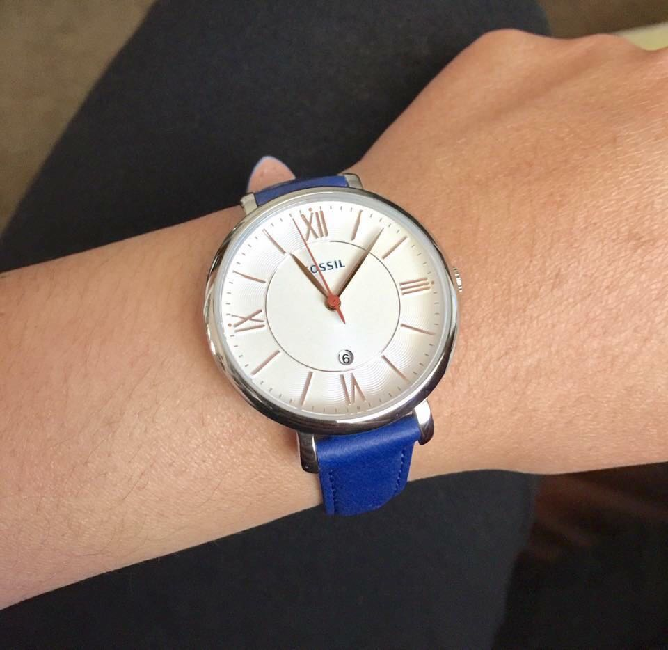 Fossil Blue leather watch Repriced