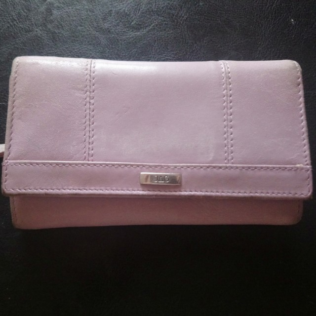 Genuine JAG mauve wallet dusty pink