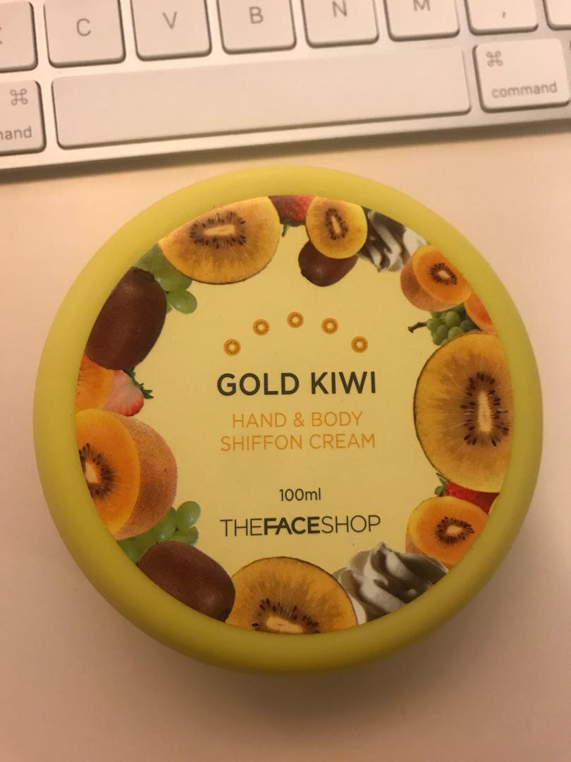 Gold kiwi body and hand cream