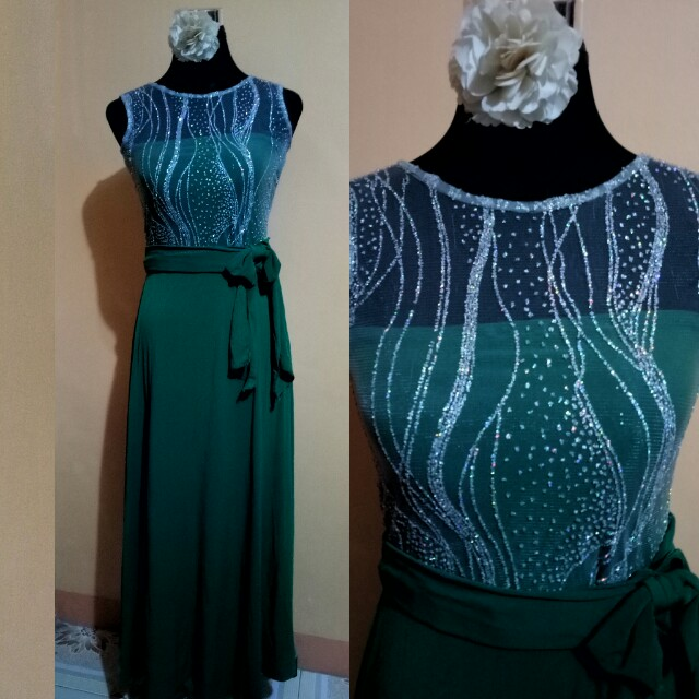 Green Bridesmaid Gown