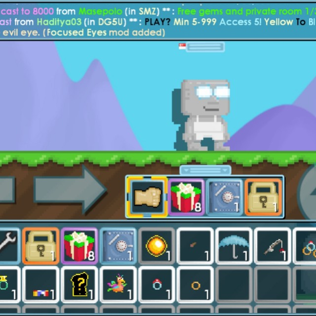 Growtopia Focused Eyes Account, Toys & Games, Video Gaming