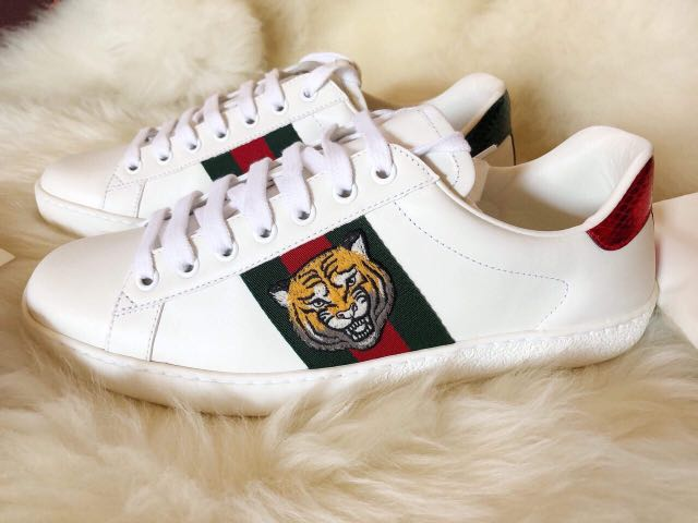da2016c8974 GUCCI Ace Embroidered Sneakers Mens (Authentic)