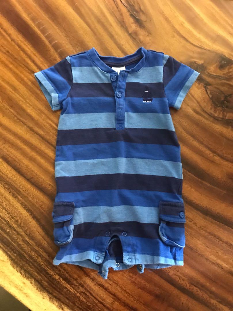 544f14bb1 Gymboree baby boy nautical romper (3-6 months), Babies & Kids ...