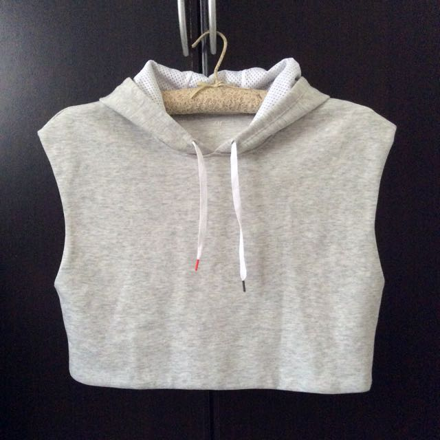 H&M SPORT Women's Cropped Muscle Hoodie