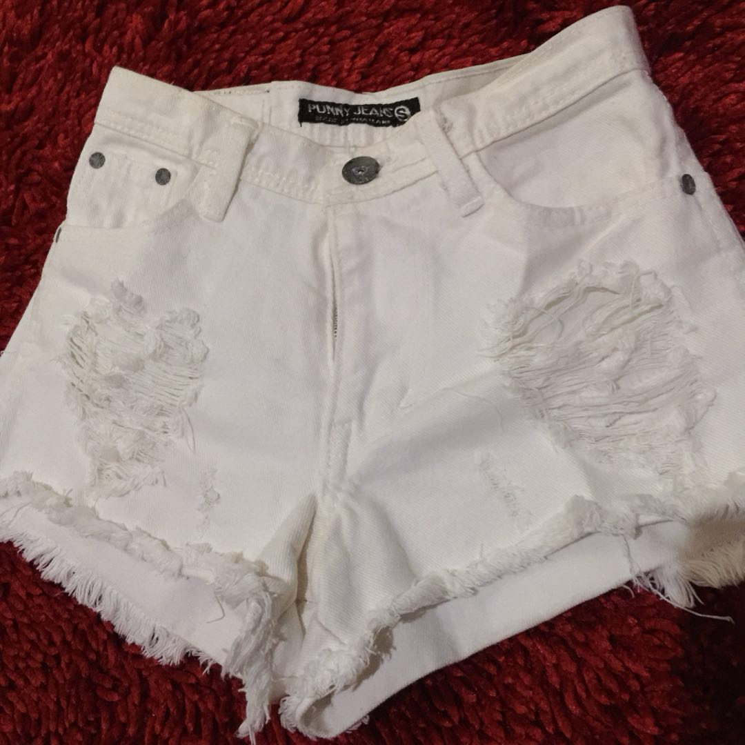 Hotpant Putih Ripped