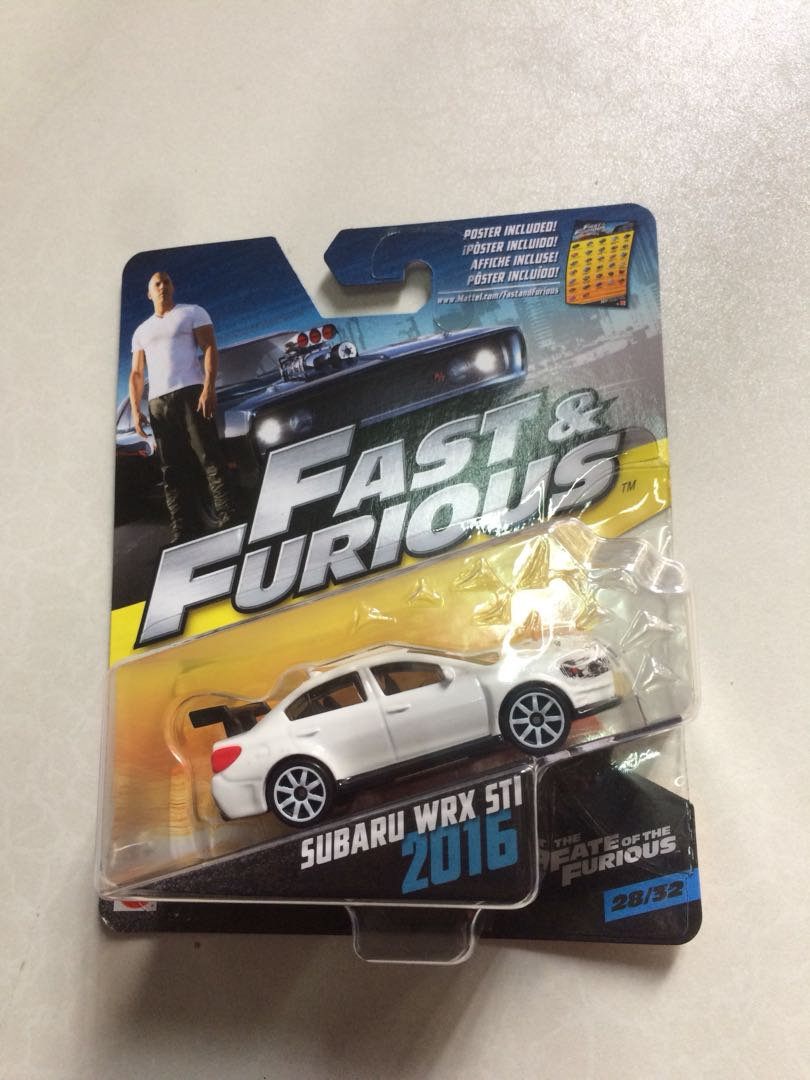 hotwheels fast furious subaru toys games other toys. Black Bedroom Furniture Sets. Home Design Ideas
