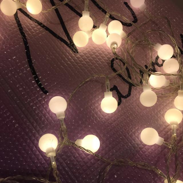 ins🌜五米50顆圓球暖燈/聖誕燈/led燈/佈置