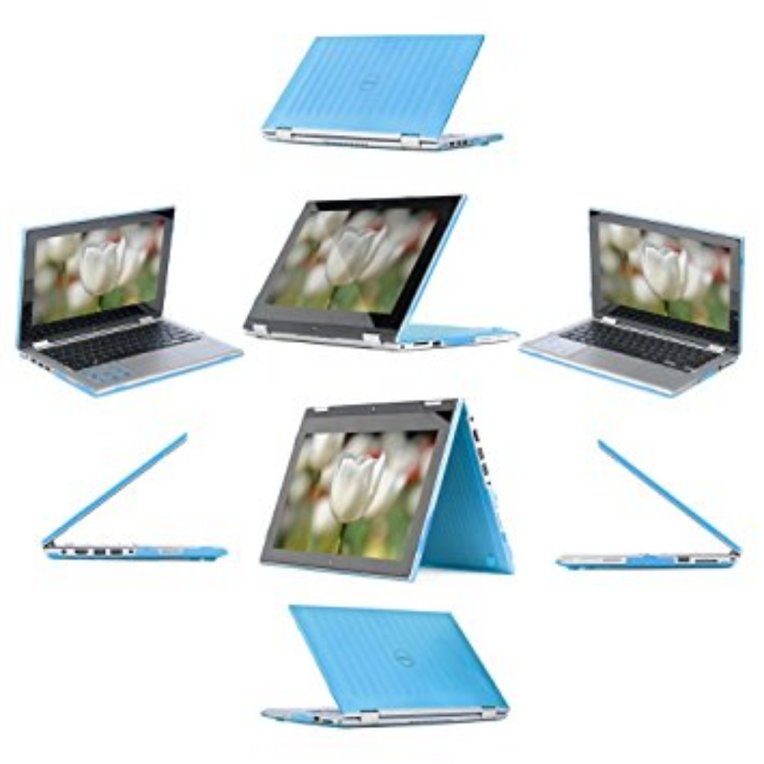 """iPearl mCover Hard Shell Case for 13.3"""" Dell Inspiron 13 7347 / 7348 / 7359 2-in-1 Convertible ( NOT compatible with Dell Inspiron 13 7352 model ) Laptop (AQUA)"""