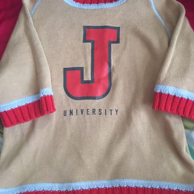 J University Blouse Top 3/4 Sleeve