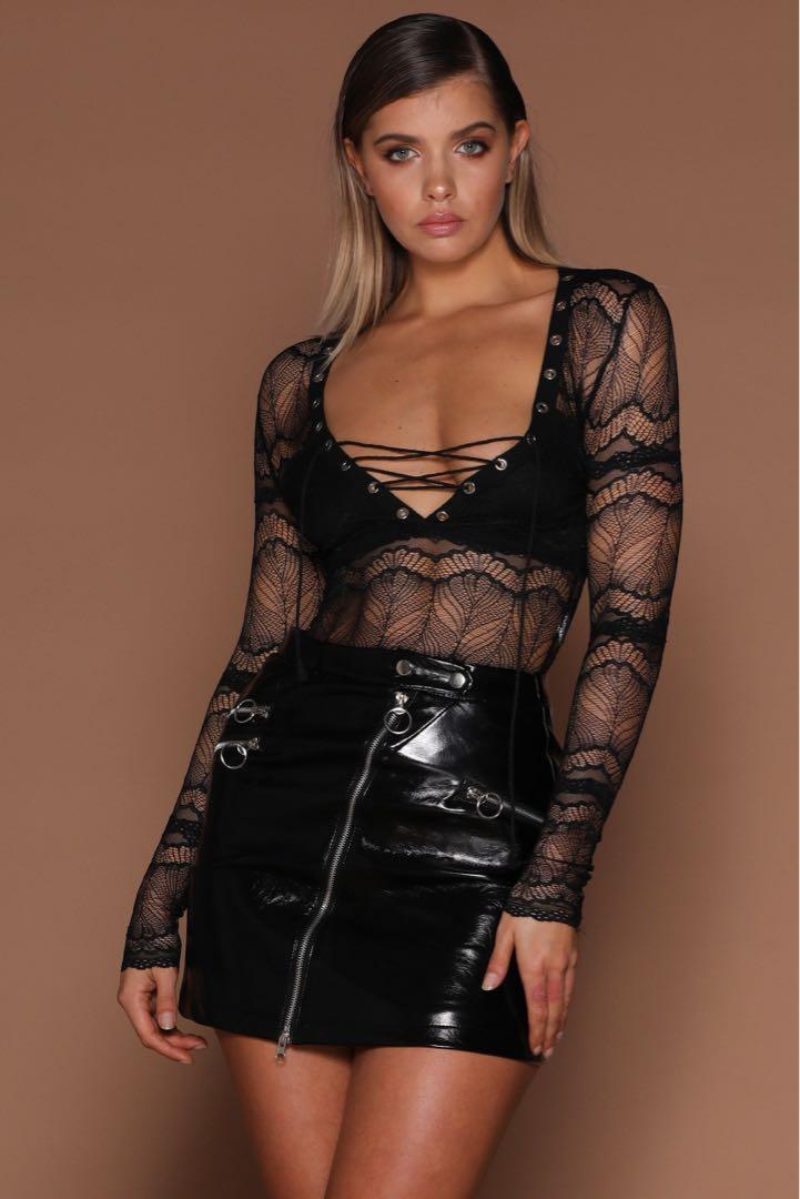 Kasiana Leather Skirt