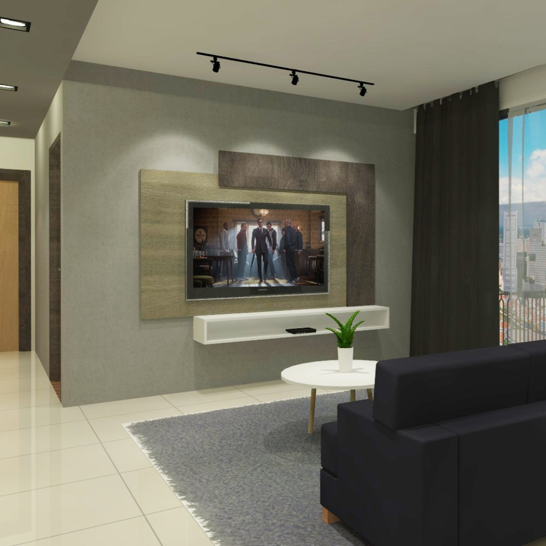 L Frame Tv Feature Wall Furniture Others On Carousell