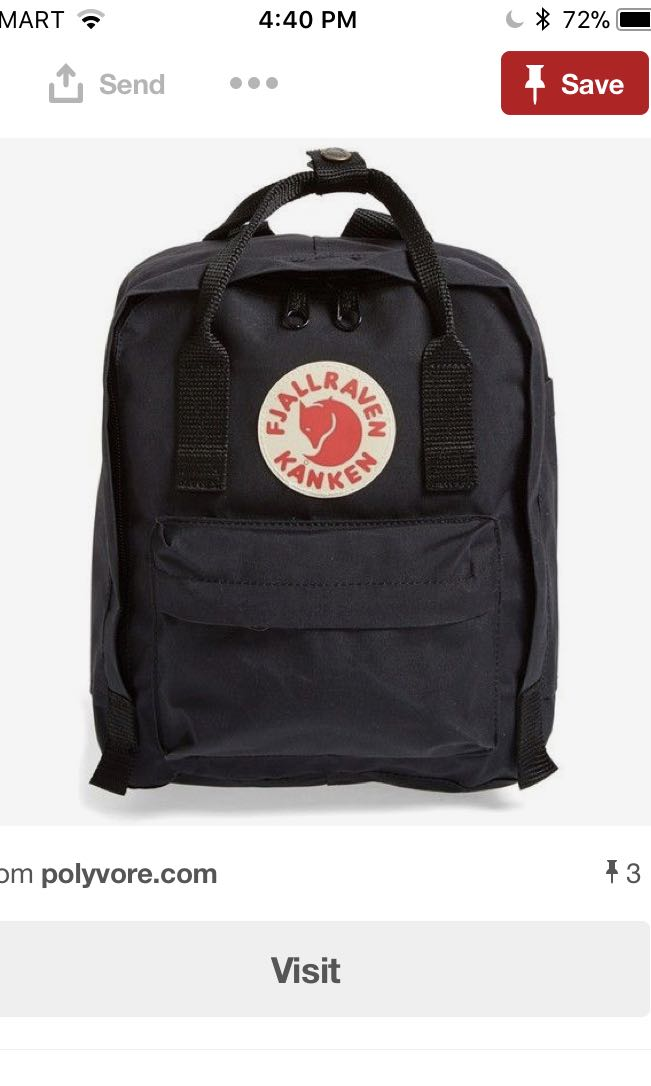 LF Kanken Mini in Black or Graphite