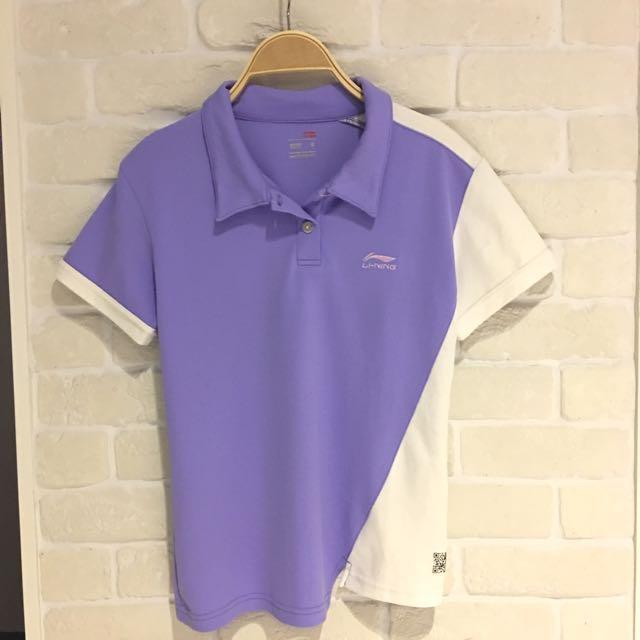 Li-Ning排汗透氣網狀S上衣,胸圍34吋,衣長53cm