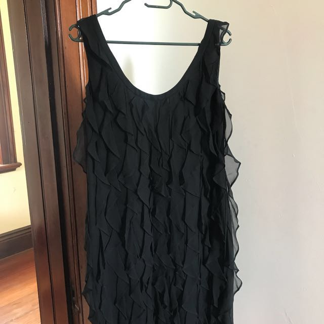 Lisa Ho 1920 little black ruffle dress