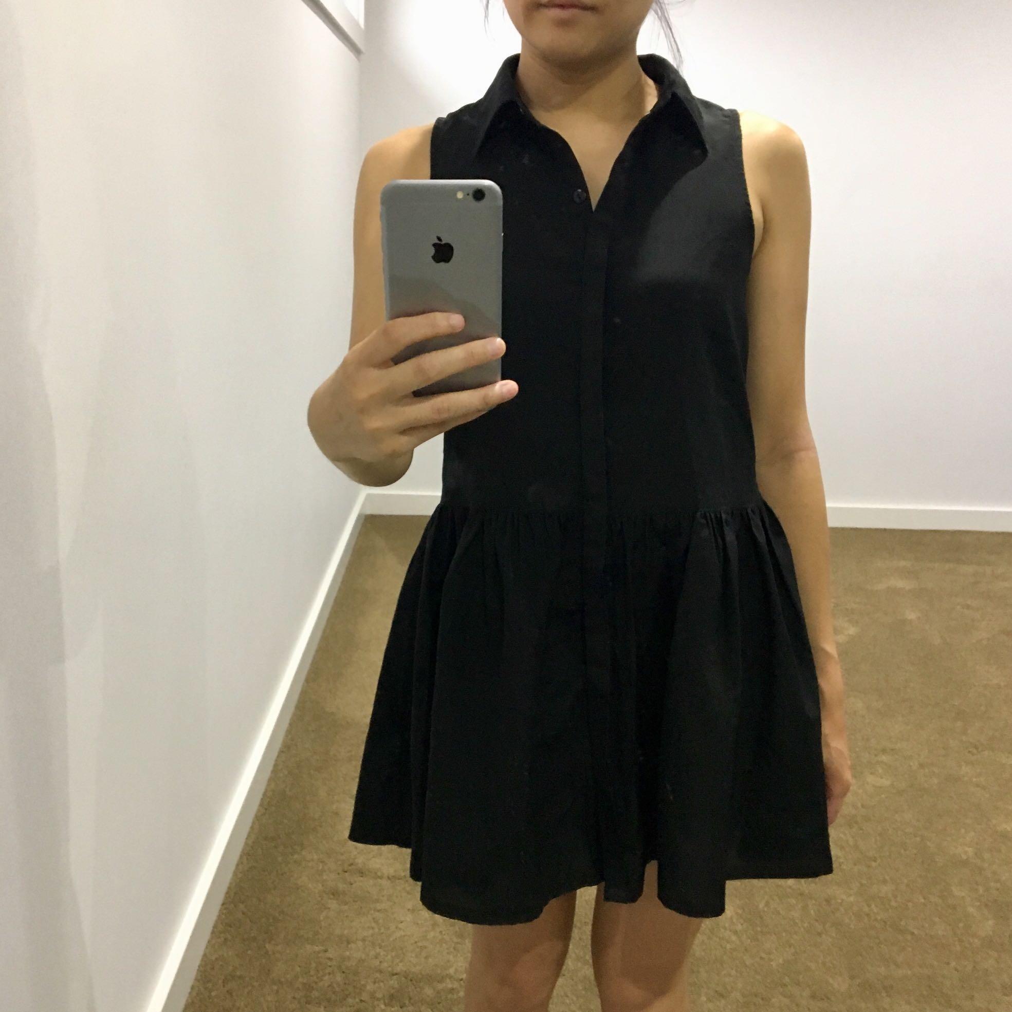 Little Black Collared Dress