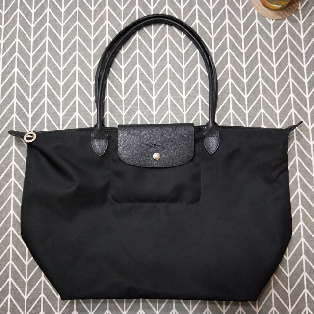 9ab89d377b9 Full black Longchamp Bag Large, Women's Fashion, Bags & Wallets on ...