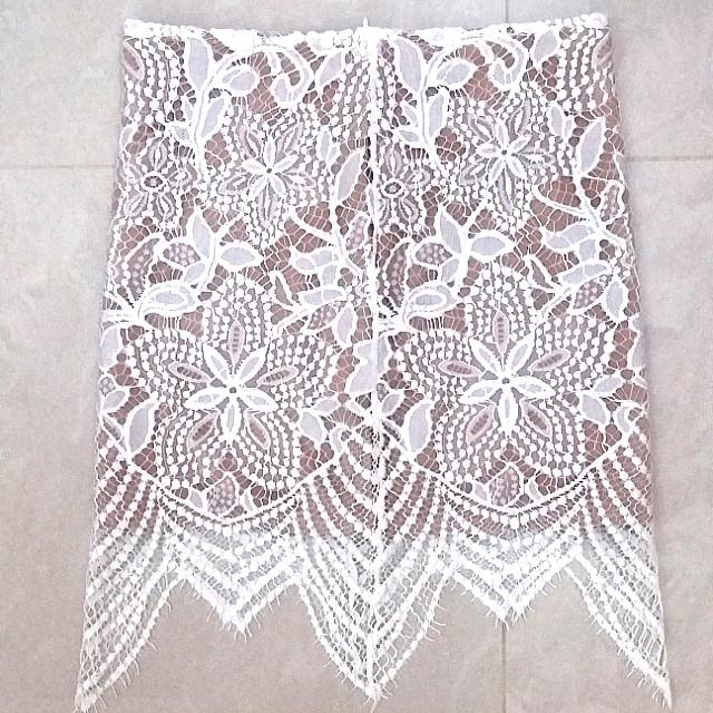 For Love and Lemons Inspired White Lace Skirt