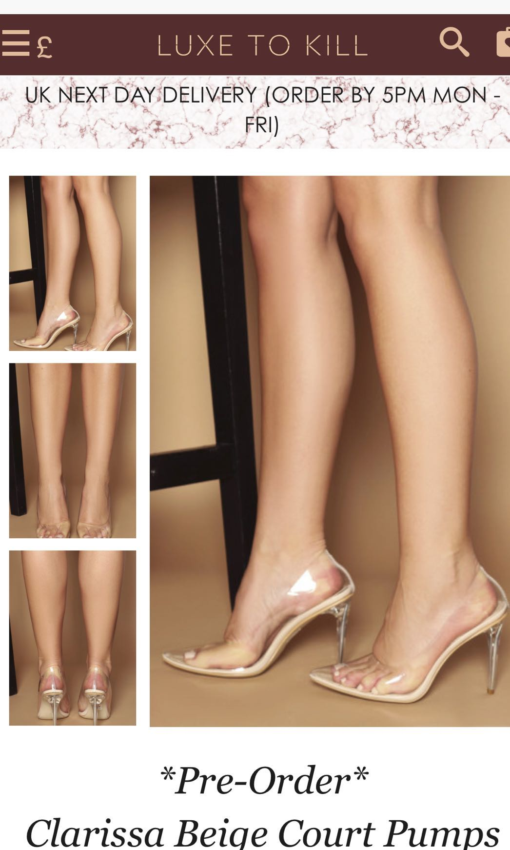 LUXE to kill nude pumps