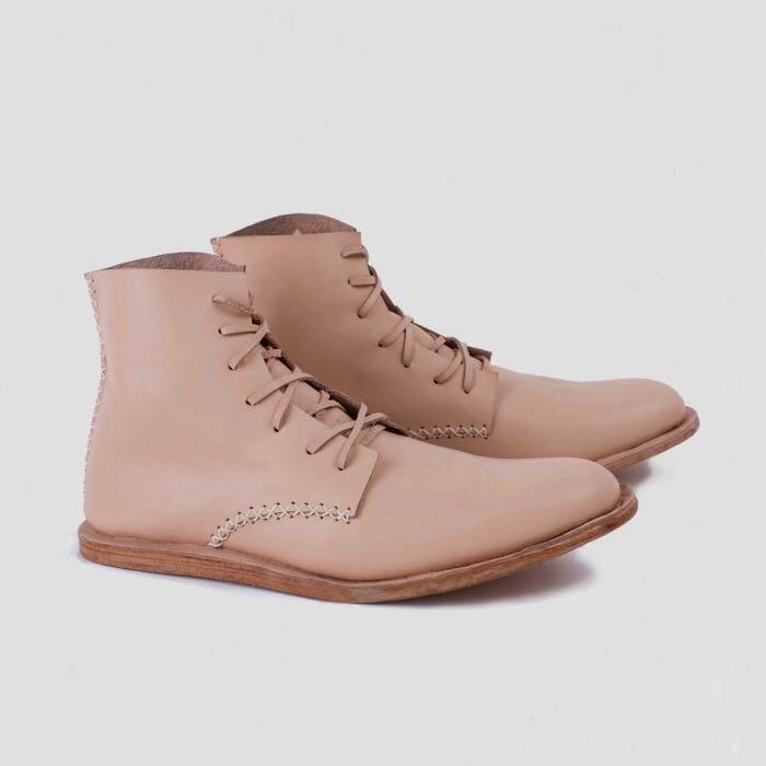 Maris Boots Men Unisex Genuine Leather Boots Pijak Bumi