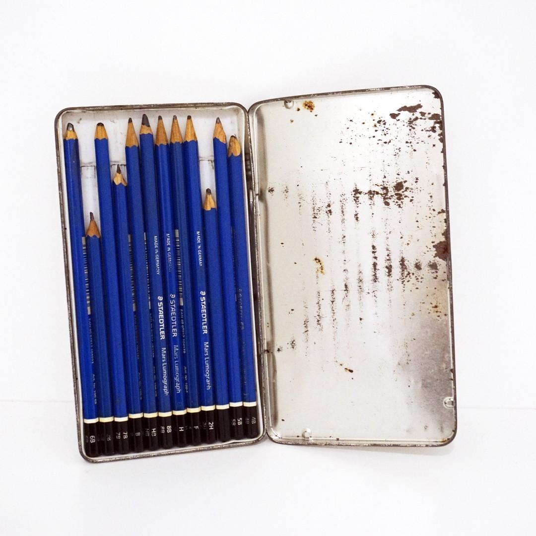 免運⭐️施德樓Mars頂級藍桿繪圖鉛筆-12支組